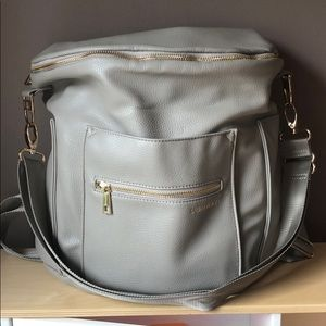 Fawn Design Gray Original Diaper Bag